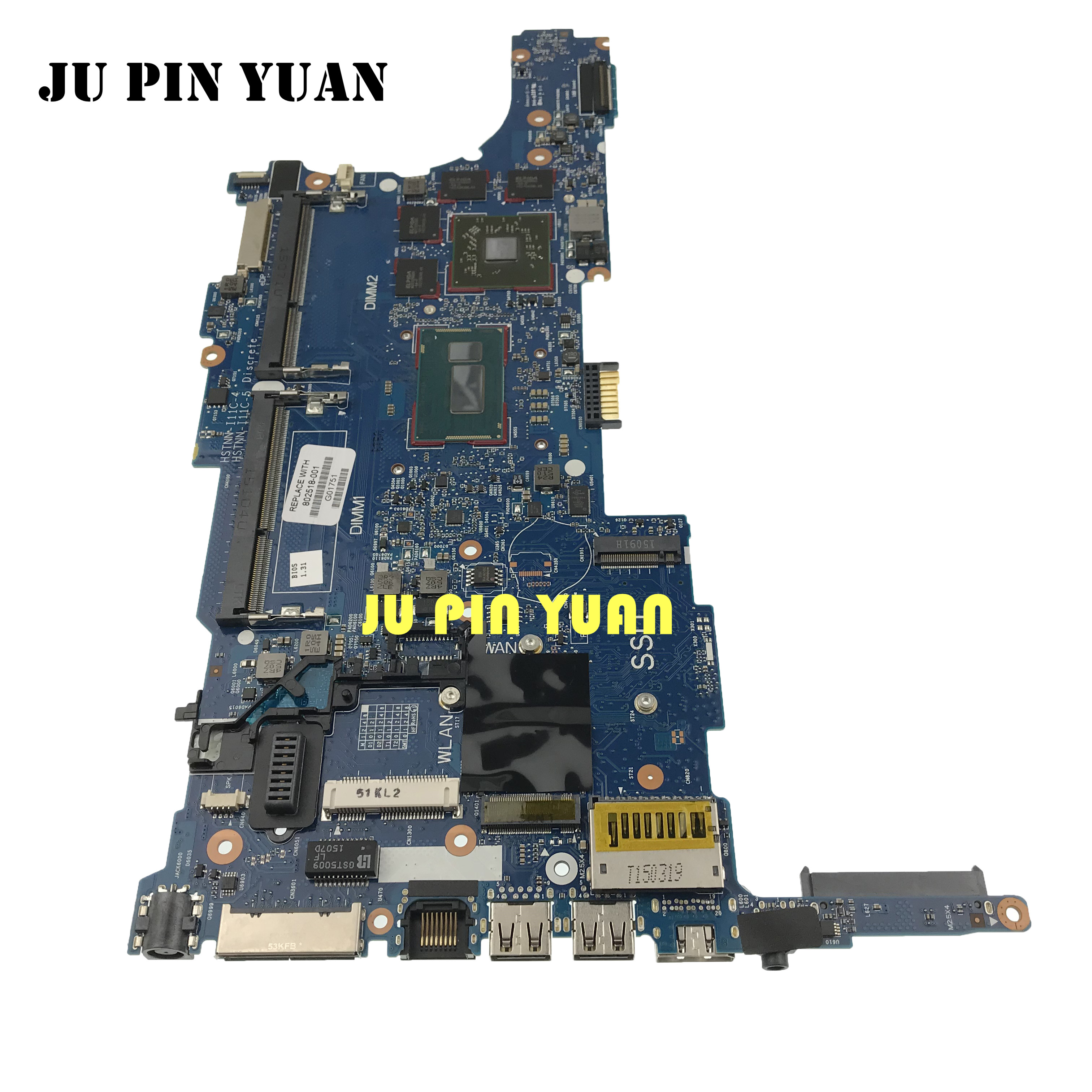 802518-001 802518-501 802518-601 6050A2559101-MB-A03 for hp Elitebook 840 G1 850 G1 laptop motherboard with <font><b>i7</b></font>-<font><b>4600U</b></font> image
