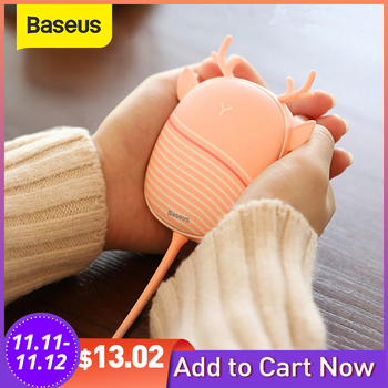 Baseus Mini Hand Heater Portable USB Rechargeable Electric Hand Warmer Winter Hand Heater Travel Quick Heating Pad