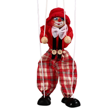 цена на Pull-line puppet puppet doll red blue blue green orange pure hand puppet doll drama toys children's hands-on ability exercise