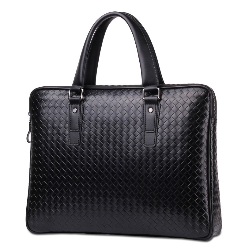 Tidog Korean Woven Hand Bag Casual  Laotop Fashion Business Briefcase