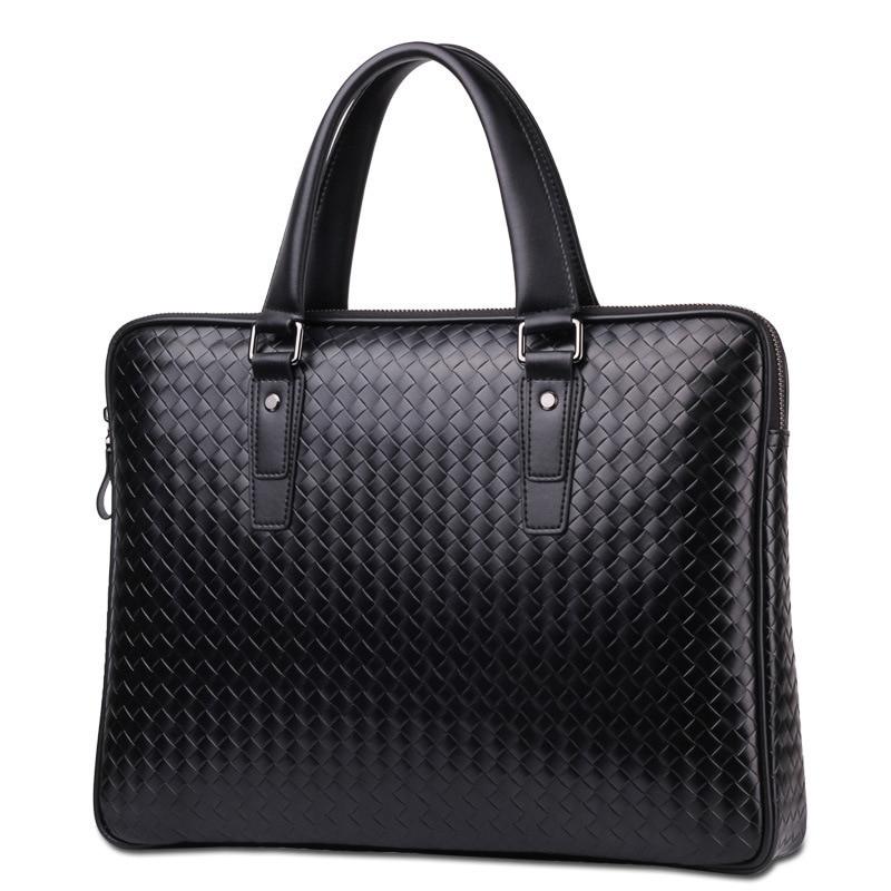 Tidog Korean Woven Hand Bag Casual  Laotop Fashion Business Briefcase