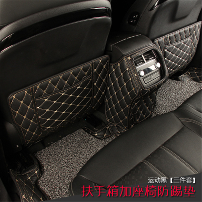 car styling For Zotye T800 T700 Car interior PU rear seat protection pad anti kick mat 3PCS|Chromium Styling| |  - title=