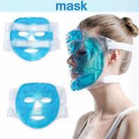 Холодная гелевая маска для лица, ледяной компресс, Синяя Маска для всего лица, охлаждающая маска, облегчающая усталость, расслабляющая поду...