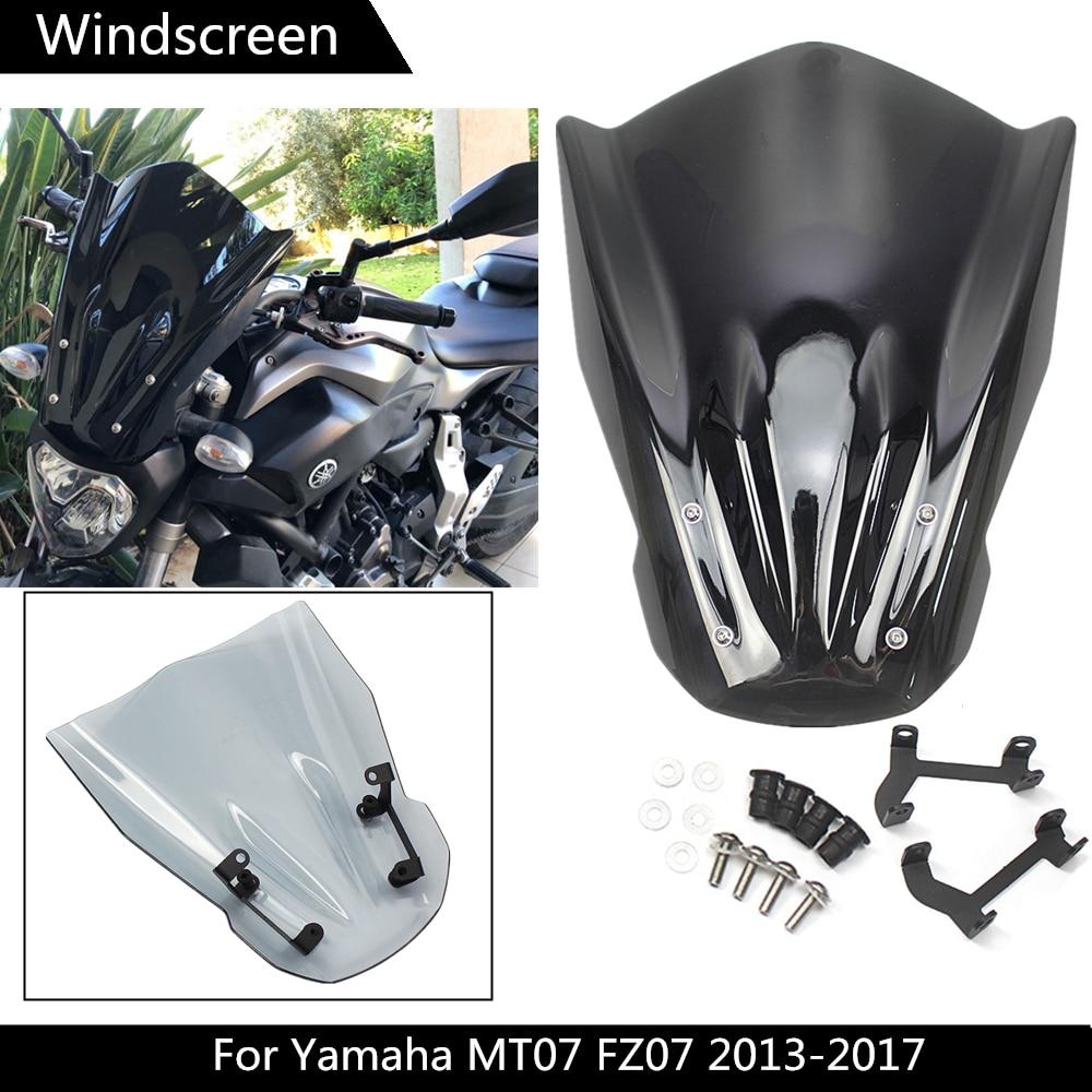 Windshield Windscreen For YAMAHA MT-07 MT07 MT 07 FZ-07 FZ07 FZ 07 2014-2017