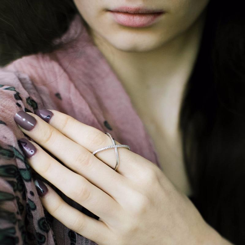 ÖPÜCÜK MANDY AAA CZ Zirkon Klasik Kadın Yüzükler Kadın Parti - Kostüm mücevherat - Fotoğraf 6