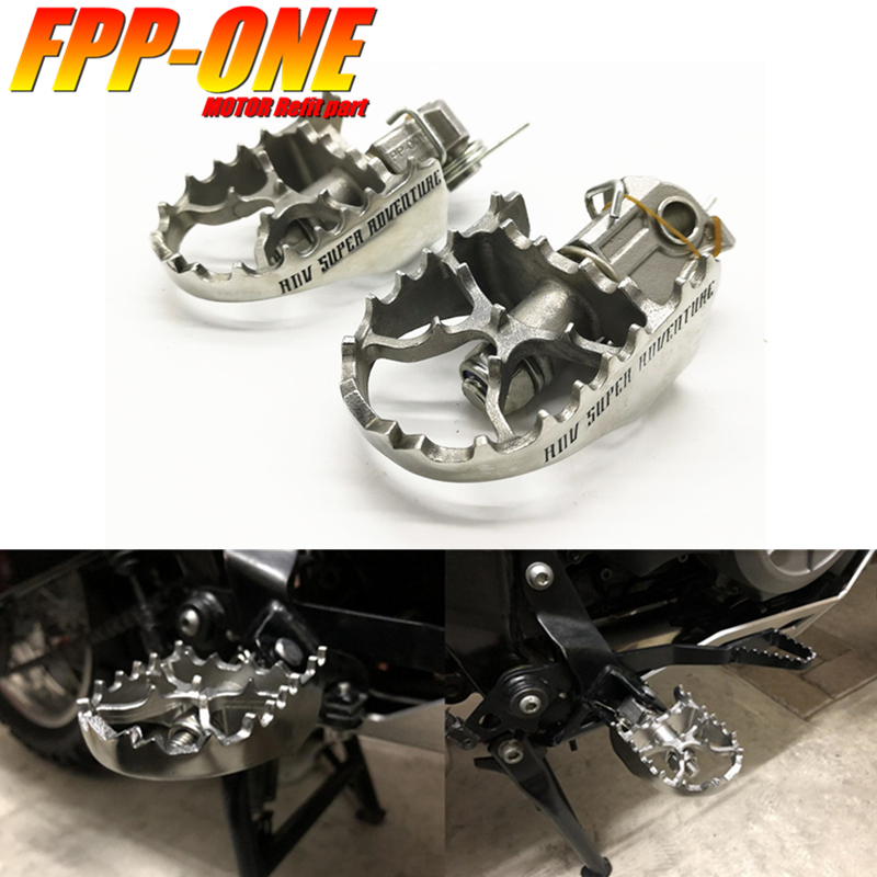 FOR <font><b>KTM</b></font> 625 650 LC4 ADV 690 Enduro <font><b>950</b></font> 990 Adventure <font><b>Sm</b></font> Motorcycle Accessories Front Footpegs Foot Rest Peg image