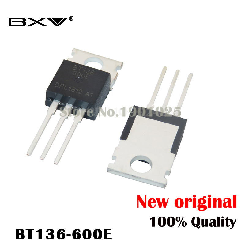 10PCS New BT136-600 BT136-600E TO-220 Triac 600V 4A BT136 IC