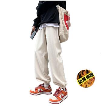 Wełna jagnięca spodnie dresowe męskie spodnie zimowe kaszmirowe spodnie męska odzież wierzchnia obcisłe spodnie aksamitne ocieplone spodnie męskie polarowe grube spodnie tanie i dobre opinie weibolaishen Spodnie krzyżowe CN (pochodzenie) Pełnej długości Mieszkanie Luźne COTTON Faux futra Poliamid 27 - 32