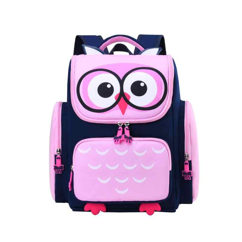 Crianças sacos de escola meninas meninos crianças dos desenhos animados escola primária mochila ortopédica coruja mochilas mochila crianças infantil