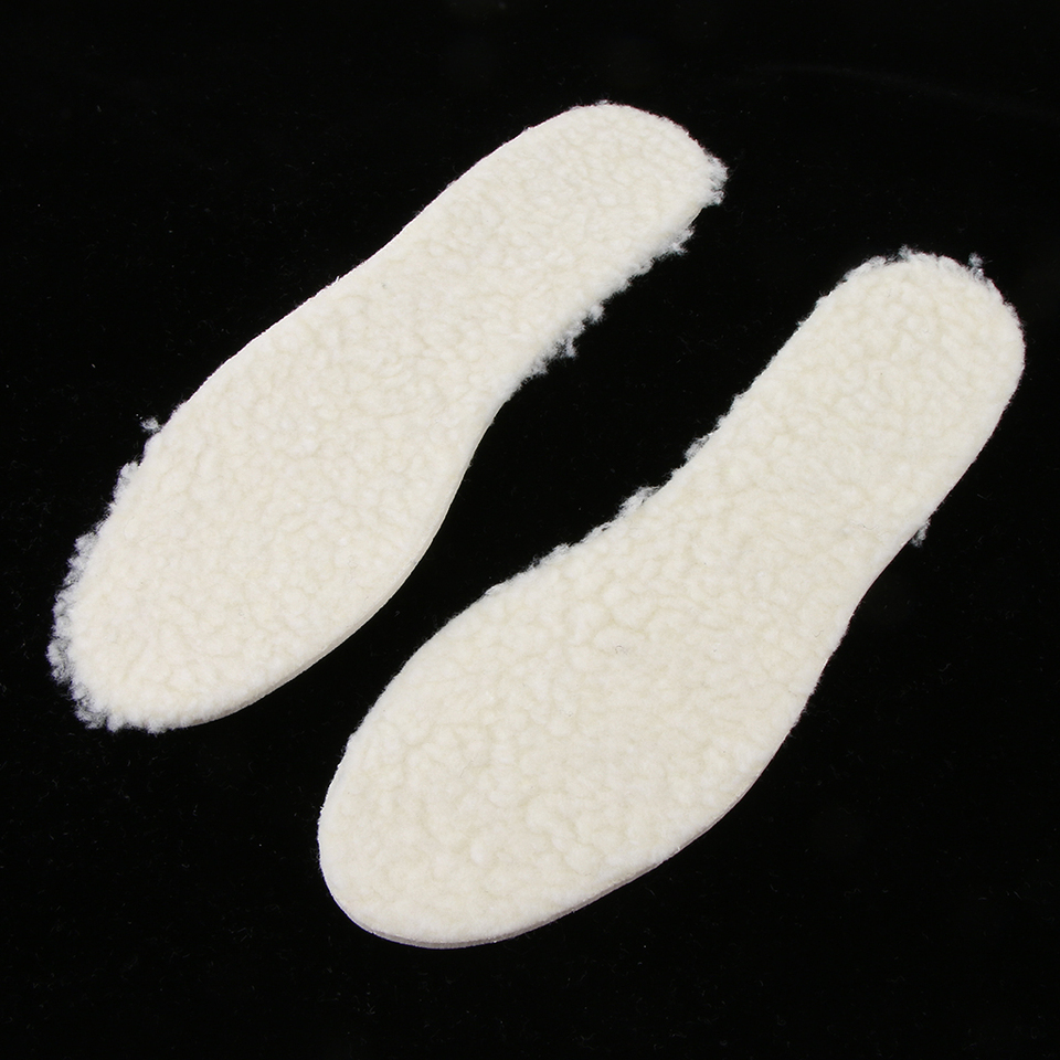 2Pair Kids Adults Fleece Warm Shoe Insole Winter Fluffy Thermal Boot Inserts