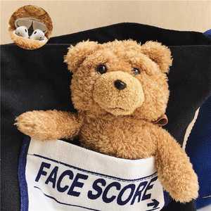 Winter Knit Cute Case Cover for Apple Airpods 1/2 Earphone Cases plush Brown Teddy Bear Bluetooth Headphone Bag Air Pods Lanyard()
