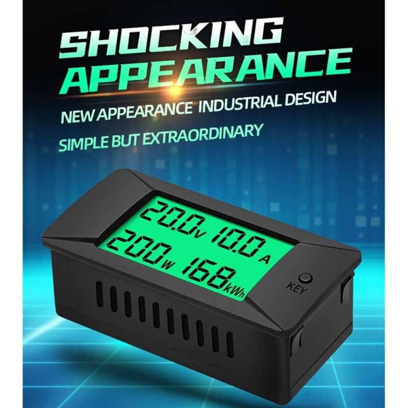 DC 0-300V 0-300A ЖК-дисплей Дисплей Цифровой Текущий Напряжение Мощность счетчик энергии