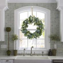 40 # branco simulação guirlanda lysimachia anel campo pingente porta knocker folha redonda decoração grinaldas porta pendurado acessórios