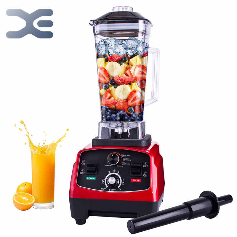 2200W Heavy Duty Kommerziellen Arbeitsplatte Mixer 2L Variable Geschwindigkeit Gebaut-in Timer Professionelle Entsafter Eis Smoothie Suppen Maschine