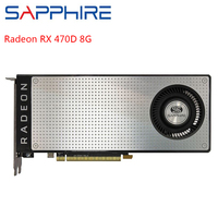 SAPPHIRE AMD Radeon RX 470D 8GB GDDR5 Graphics Cards Gaming PC Computer Video Card RX470D 256bit PCI Express 3.0 Used Card