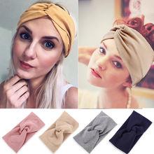 4 цвета хлопковая повязка на голову для йоги женская спортивная