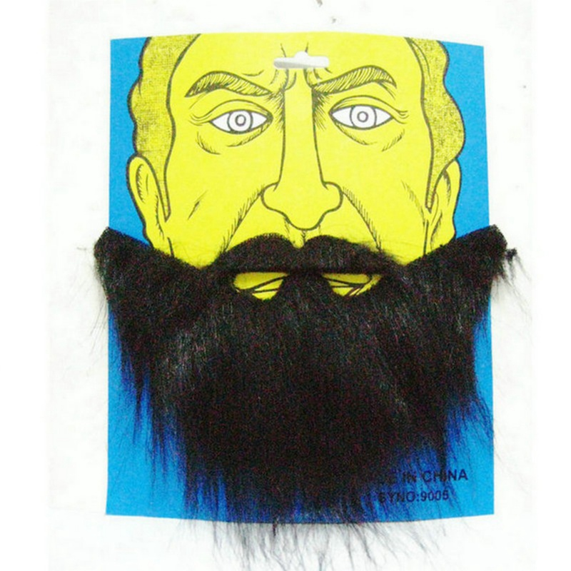 2 Color Halloween Fake Beards Mustaches Beard Funny Fake Beard Costume Accessories Party Supplies For Adult Kids