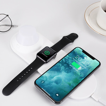 Phone Wireless Charger Quick Charging Smart Watch with LED Night Light NC99