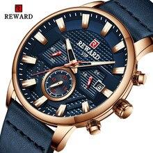 Recompensa moda topo relógio masculino marca de luxo à prova dwaterproof água cronógrafo relógios masculinos esporte quartzo relógio de pulso relogio masculino