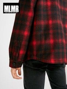 Image 4 - Mens Short Hooded Plaids Loose Wool Cotton Coat