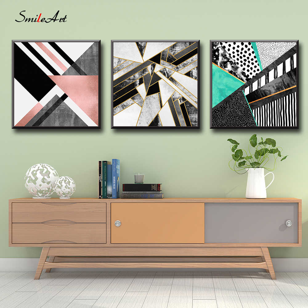 Abstract Art Of Geometry Canvas Wall Pictures Wall Pictures For Living Room Pictures On The Wall Home Decor Cuadros