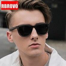 RBROVO Vintage Polarized Sunglasses Men 2020 Luxury Mirror Square Eyeglasses Men/Women Retro Polarized Sun Glasses For Men UV400
