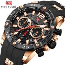 MINIFOKUS Military Herren Quarz Uhren Top Marke Luxus Silikon Strap Multifunktions Sport Beiläufige Uhr Männer Wasserdichte Uhr