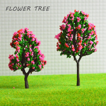 50pcs 4-8cm model flower trees toys ABS plastic scale miniature wargame plants for diorama tiny sandtable forest scenery making