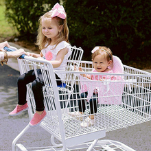 Корзина для покупок, детская подушка, коврик на колесиках для малышей, детская подушка для путешествий, переносная детская подушка для супермаркета, кресло на колесиках