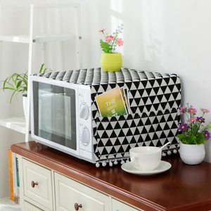 Microwave Dust Proof Cover Microwave Oven Hood Home Decor dust cover for Microwave Towel With Pouch Home Supply