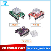 4 Pcs 3D Printer Stepstick DRV8825 A4988 Stepper Motor Driver dengan Heat Sink Carrier RepRap Ramps 1.4 1.5 1.6 MKS gen V1.4 Papan(China)