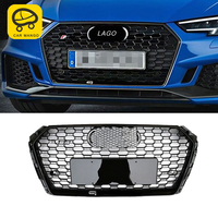 CarManGo for Audi A4 S4 B9 2017 2018 2019 Car Front Hood Middle Net Bumper Grills Grille Frame Cover Trim Exterior Accessories