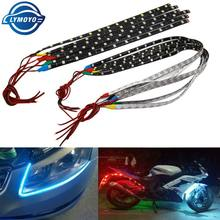 1 Pcs 30 Cm 60 Cm Mobil Auto Dekoratif Lampu Colorful LED Strip 5050 Flexible Strip Lampu Tape Siang Hari lampu DRL Angel Eyes(China)