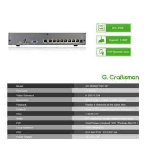 Image 3 - 4ch 5MP Audio POE Kit H.265 System CCTV Security NVR Outdoor Waterproof IP Camera Surveillance Alarm Video Record G.Craftsman