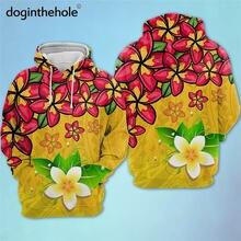 Doginthehole Женский Осенний пуловер свитшот Гавайский Плюмерия