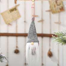 Christmas MINI Delicate Puppet Doll Hanging Home Tree Decoration 16*5cm(China)