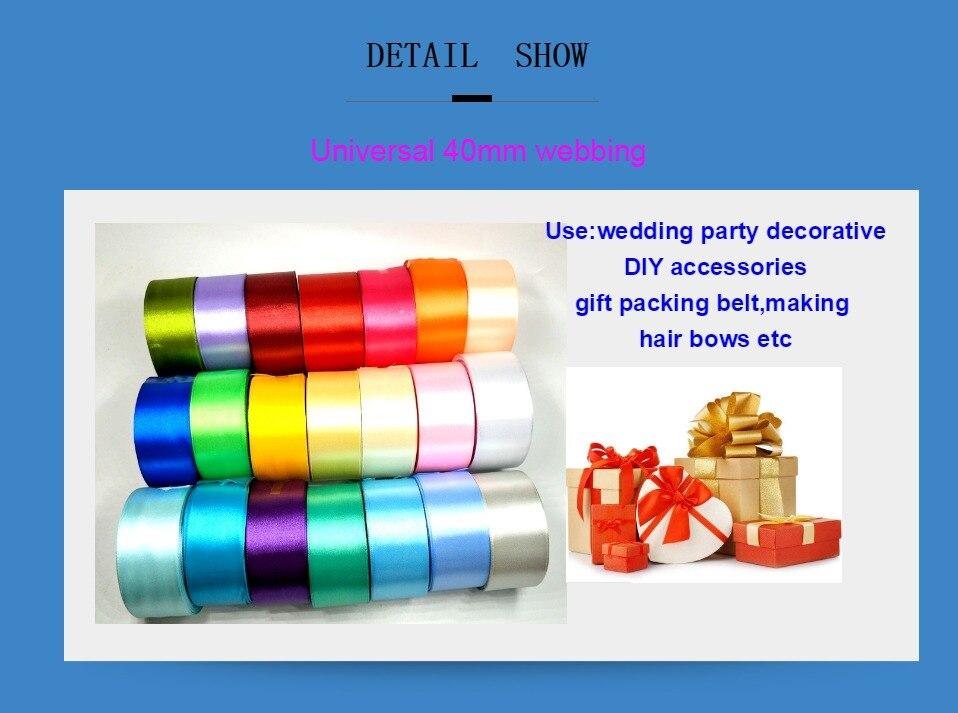 H6f75a9e1b4054d6aac7205036d1275e1w HL 5 meters 15/20/25/40/50mm Solid Color Satin Ribbons Wedding Decorative Gift Box Wrapping Belt DIY Crafts