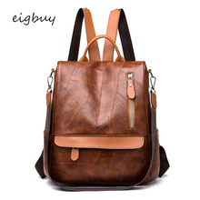Girl backpacks Designer Zipper Lock Pu Black Preppy style fashionable school bags for teenage girls GLR326 purse bookbags