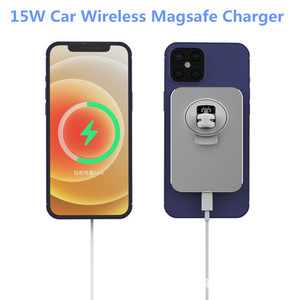 Image 1 - 15W Wireless Car Charger Mount Ventแม่เหล็กAdsorbableโทรศัพท์ผู้ถือรถสำหรับIphone 12 12 Pro Max 12 mini Magnetic Charger