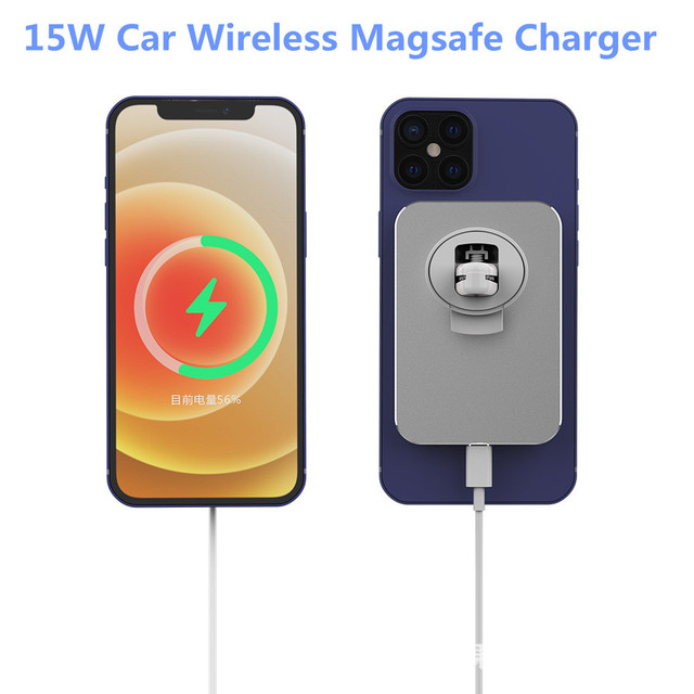 15W Wireless Car Charger Mount Ventแม่เหล็กAdsorbableโทรศัพท์ผู้ถือรถสำหรับIphone 12 12 Pro Max 12 mini Magnetic Charger