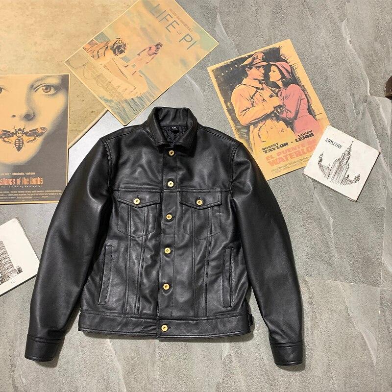 YR!Free Shipping.Super Sales.$89.99.100% Sheepskin Coat,Eur Size,genuine Leather Jacket.fashion 507 Style Leather Outwear.