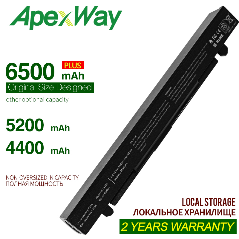 ApexWay a41-x550a laptop battery for asus x550 asus x550c asus x450 asus x550cc asus r510c asus x550l  A450CC A550LA F550 F552