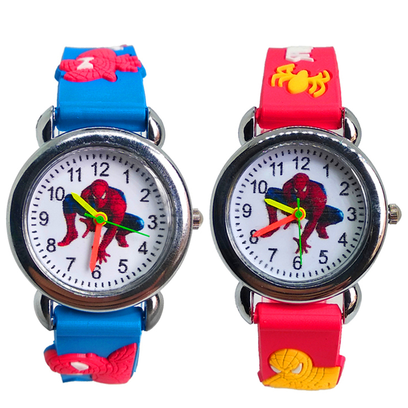 3D Spiderman Children's Watches For Boys Girls Clock Kids Digital Electronics Watches Silicone Children Watch Baby Birthday Gift