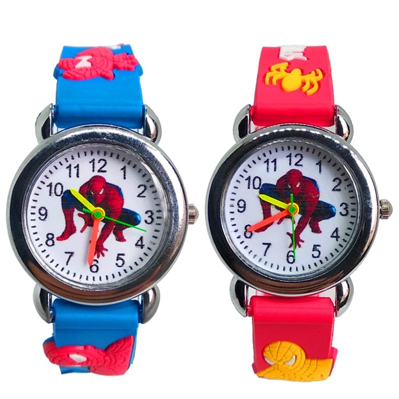 3D Spiderman Children's Watches For Boys Girls Clock Kids Digital Electronics Watches Silicone Children Watch Baby Birthday Gift
