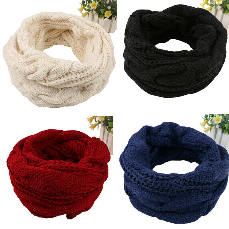 Autumn Winter Boy's Girl's Knitted Circle Wool Scarf Shawl Wrap Winter Warm Collar Drop Shipping Drop Shipping