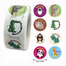500 pces/rolo, design diferente bonito animal dos desenhos animados elefante adesivos diário scrapbook professor crianças recompensa adesivos de papelaria
