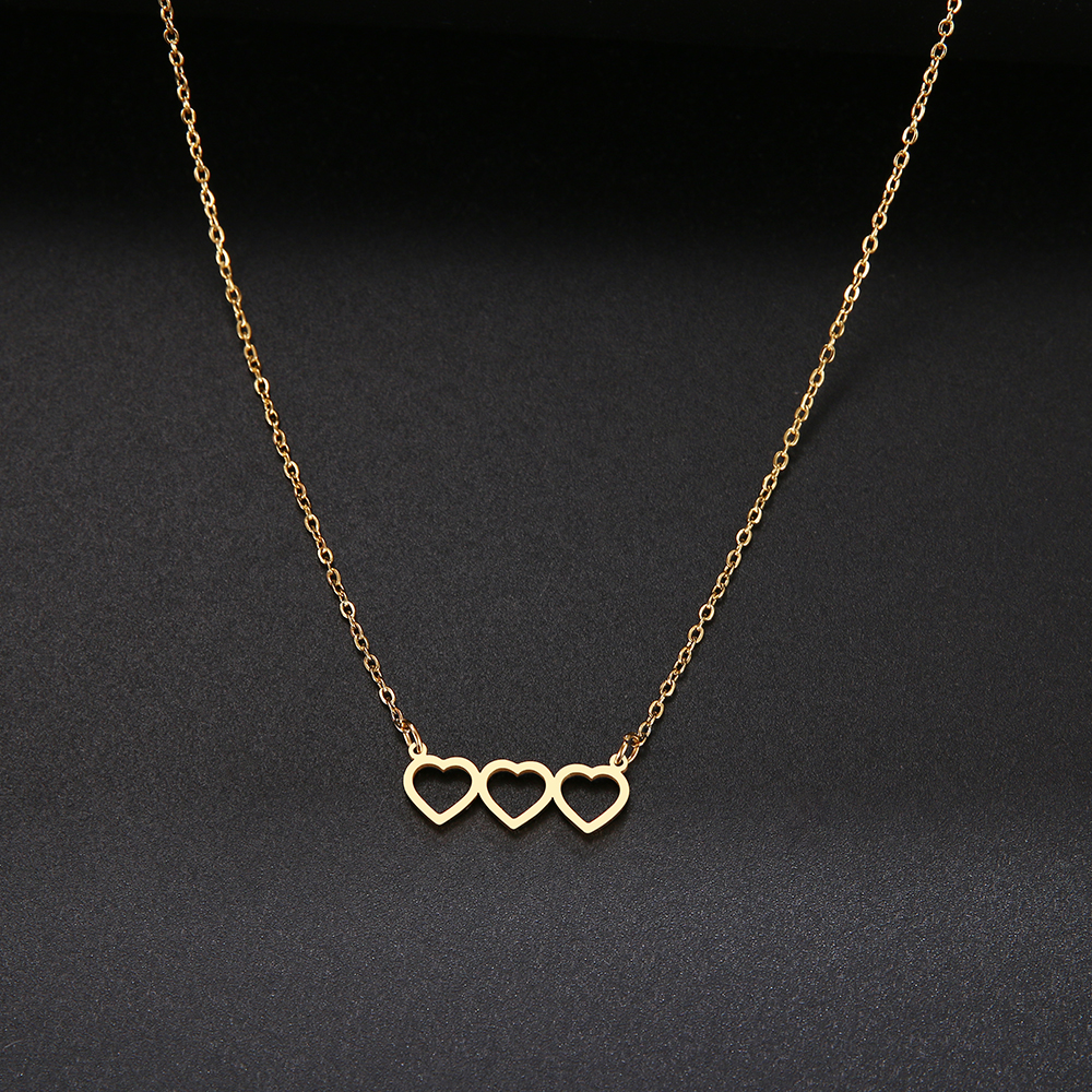 Connect Heart Necklace For Women Fashion Stainless Steel Jewelry 2020 Charming Gifts For Best Friends Trendy Pendant Choker
