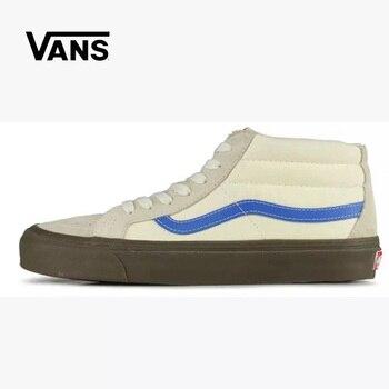 Original Vans Vault Sk8 Mid OG Skateboarding Shoes Sneakers VANS Off The Wall Men/Women Sports Shoes Size Eur 36-44 vans рюкзак vans off the wall grape leaf