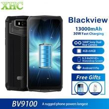 IP68 Rugged Blackview BV9100 6.3'' FHD+ 13000mAh Smartphone 4GB 64GB Helio P35 O
