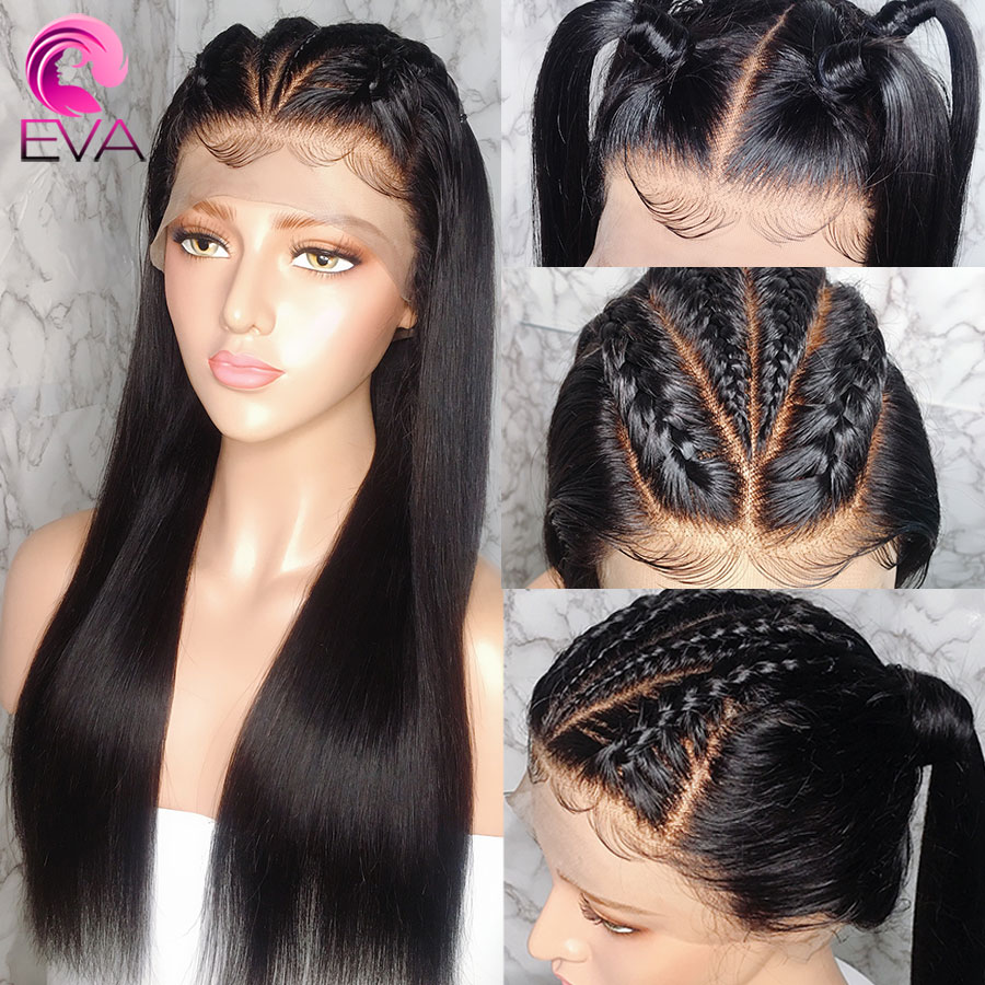 Eva Hair Straight 13x6 Lace Front Human Hair Wig Pre Plucked With Baby Hair Glueless Brazilian Remy Hair Wigs For Black Women